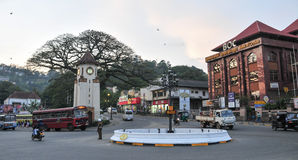 Mening van Kandy-straat Stock Foto