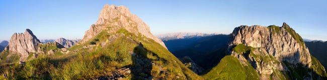 Mening van Karnische Alpen Royalty-vrije Stock Fotografie