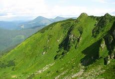Mening van Karpatische berg Royalty-vrije Stock Afbeeldingen