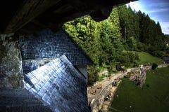 Mening van kasteel Stock Afbeeldingen