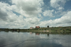 Mening van kasteel in Gniew Royalty-vrije Stock Foto