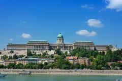 Mening van Kasteelheuvel over de Donau Boedapest Stock Foto's