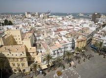Mening van kathedraal in Cadiz Royalty-vrije Stock Afbeeldingen