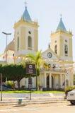 Mening van kathedraal Catedral Metropolitana Sagrado Coracao DE Jesu Royalty-vrije Stock Afbeelding