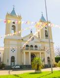 Mening van kathedraal Catedral Metropolitana Sagrado Coracao DE Jesu Stock Fotografie