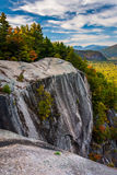 Mening van Kathedraalrichel in Echo Lake State Park, New Hampshire Stock Afbeelding