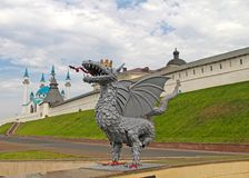 Mening van Kazan het Kremlin royalty-vrije stock fotografie