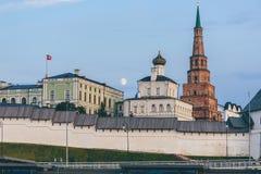 Mening van Kazan het Kremlin stock fotografie