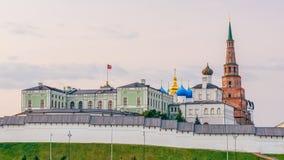 Mening van Kazan het Kremlin royalty-vrije stock afbeeldingen