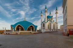 Mening van Kazan het Kremlin col.-Sharif Royalty-vrije Stock Foto