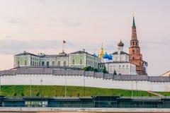 Mening van Kazan het Kremlin royalty-vrije stock foto's