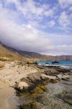 Mening van Kedrodasos-strand, Eiland Kreta Stock Afbeeldingen