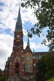 Mening van kerk Stock Foto's