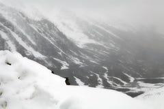 Mening van Khardung-de Pas van La, Ladakh, India stock fotografie