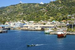 Mening van Kingstown, st Caraïbische Vincent, Stock Afbeelding