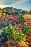 Mening van kiyomizu-Deratempel in Kyoto royalty-vrije stock fotografie