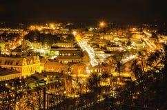 Mening van kleine Zweedse stad Royalty-vrije Stock Foto