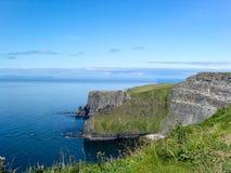 Mening van Klippen van Moher, Provincie Clare, Ierland stock afbeeldingen