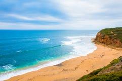 Mening van Klokkenstrand op Grote Oceaanweg, Victoria-staat, Australië royalty-vrije stock afbeeldingen