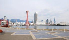 Mening van Kobe-toren en stad, Japan stock fotografie
