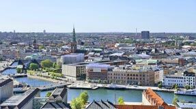 Mening van Kopenhagen, Denemarken Stock Foto