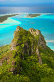 Mening van koraalrif, Maupiti, Franse Polynes Royalty-vrije Stock Foto's