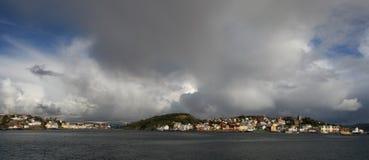 Mening van Kristiansund Noorwegen stock foto