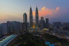 Mening van Kuala Lumpur Stock Foto