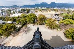 Mening van Kumamoto en dichtbij Royalty-vrije Stock Foto's