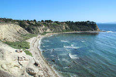 Mening van kustklip in Rancho's Palos Verdes Royalty-vrije Stock Afbeeldingen