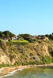 Mening van kustklip in Rancho's Palos Verdes Stock Afbeelding