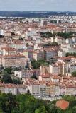 Mening van La Croix Rousse in Lyon Stock Afbeeldingen