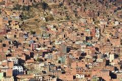 Mening van La Paz, Bolivië Stock Fotografie