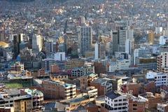 Mening van La Paz, Bolivië Royalty-vrije Stock Foto's