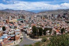 Mening van La Paz, Bolivië nave Royalty-vrije Stock Foto