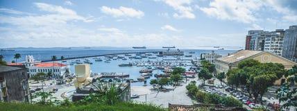 Mening van Lacerda-Lift in Salvador, Bahia, Brazilië royalty-vrije stock foto