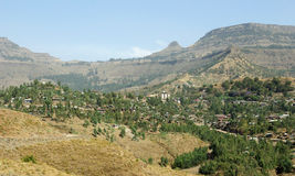 Mening van Lalibela, Ethiopië Stock Fotografie