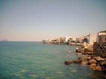 Mening van land van Nisyros Royalty-vrije Stock Foto's