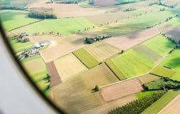 Mening van landend vliegtuig Royalty-vrije Stock Afbeelding