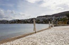Mening van leeg strand Royalty-vrije Stock Afbeeldingen
