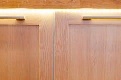 Mening van lege woonkamer en ingangsdeur Royalty-vrije Stock Foto