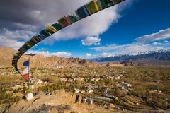 Mening van Leh-stad, het kapitaal van Ladakh, India Royalty-vrije Stock Fotografie