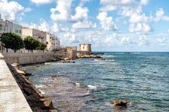 Mening van Ligny-Toren in Trapan, Sicilië Royalty-vrije Stock Afbeeldingen