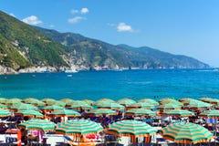 Mening van Ligurian kust stock fotografie