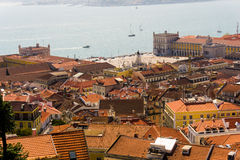 Mening van Lissabon Royalty-vrije Stock Foto