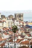 Mening van Lissabon met Rio Royalty-vrije Stock Foto