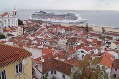 Mening van Lissabon, Portugal Stock Foto's