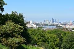 Mening van Londen van Greenwich Stock Afbeelding