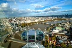 Mening van Londen van het Oog van Londen Royalty-vrije Stock Afbeelding