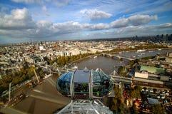 Mening van Londen van het Oog van Londen Royalty-vrije Stock Foto's